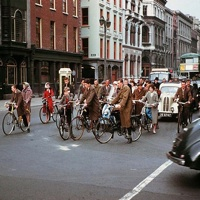 Dublin's Dame Street in 1961- Cycling Nirvana!