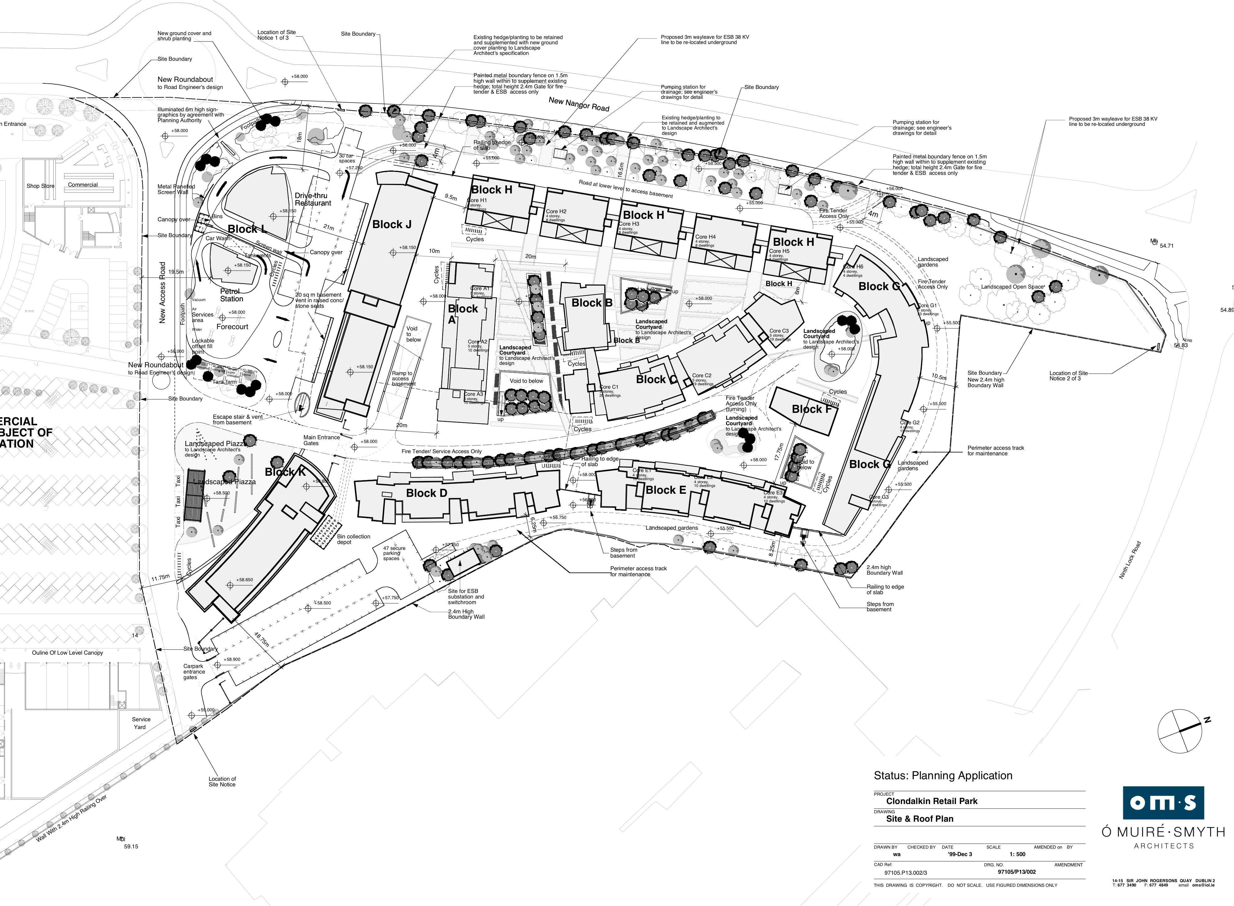 Clondalkin Site Plan