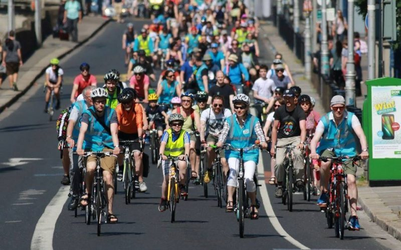 Groups advocating for safe cycling organised protest rides to call for better facilities along the Liffey Quays.