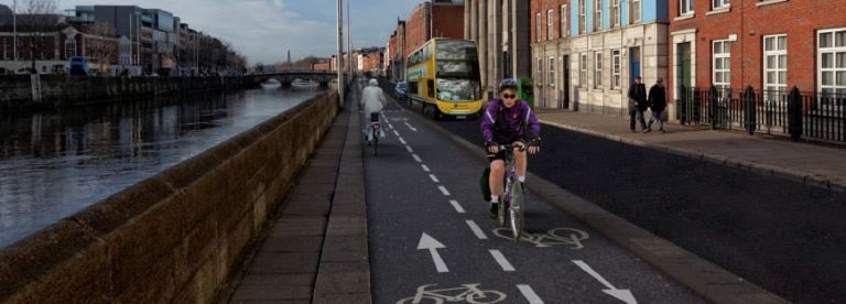 Proposed Liffey Cycle Route, North Quays 2019- Artist's impression